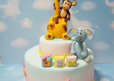 עוגת חיות מתוקה
