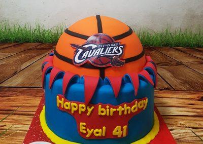 עוגת כדורסל קבלירס