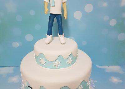 עוגה לילד עם תוכי שאוהב להחליק על הקרח