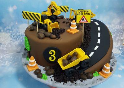 עוגת עבודות בכביש