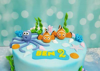 עוגה מעוצבת בנושא ים