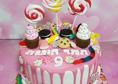 עוגת סוכריות וממתקים