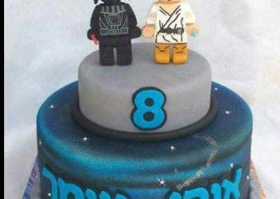 עוגת מלחמת הכוכבים לגו