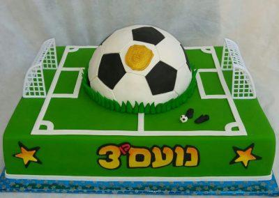 עוגת מגרש כדורגל וכדור