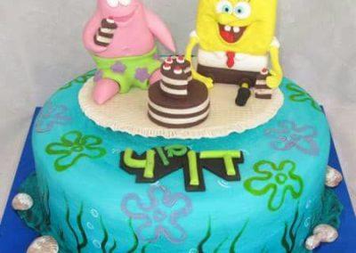 עוגת בוב ספוג ופטריק