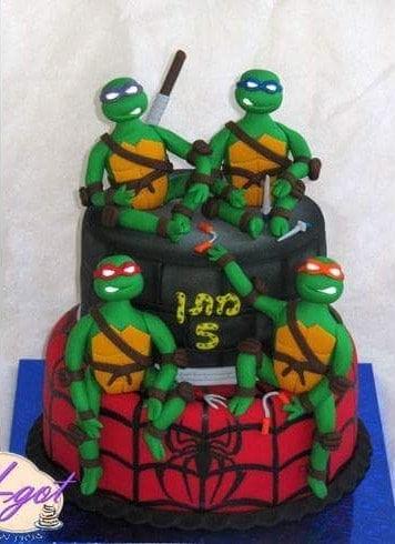 עוגת צבי הנינג'ה קומות