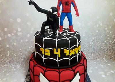 עוגת ספיידרמן רגיל ושחור