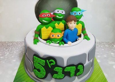 עוגת צבי הנינג'ה וילד יומולדת