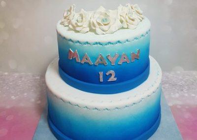 עוגת ורדים כחולה