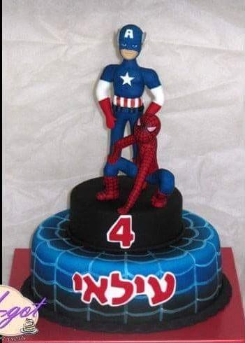 עוגת קפטן אמריקה וספיידרמן