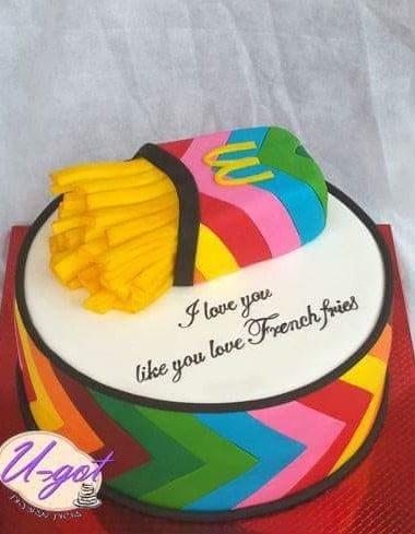 עוגת צ'יפס צבעוני