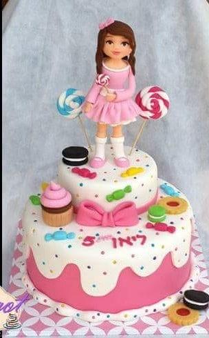 עוגת ילדה שאוהבת ממתקים