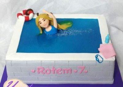 עוגת בריכת שחייה