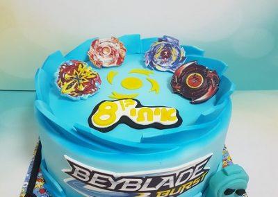 עוגת בייבלייד כחול