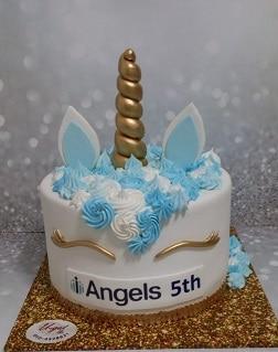עוגת חד קרן תכלת