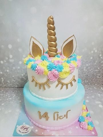 עוגת חד קרן קומות