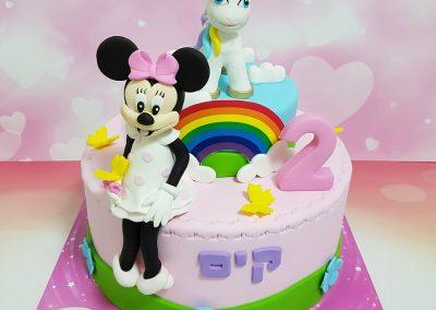 עוגת חד קרן ומיני מאוס