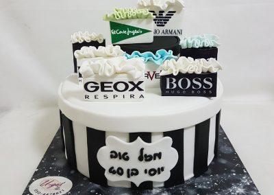 עוגת שקיות מותגים
