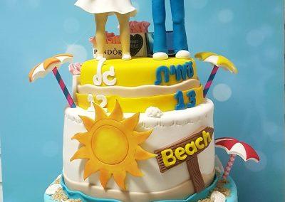 עוגת בת מצווה ובר מצווה של קיץ