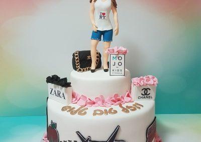 עוגה לאשה שאוהבת לטוס וקניות