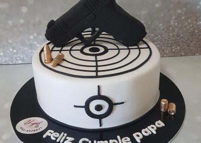 עוגת אקדח ומטרה