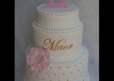 עוגת בת מצווה פרח גדול