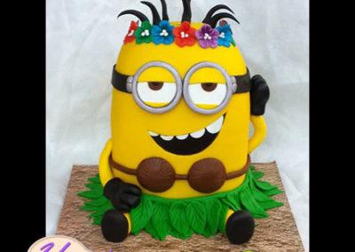 עוגת-מיניון-הוואי
