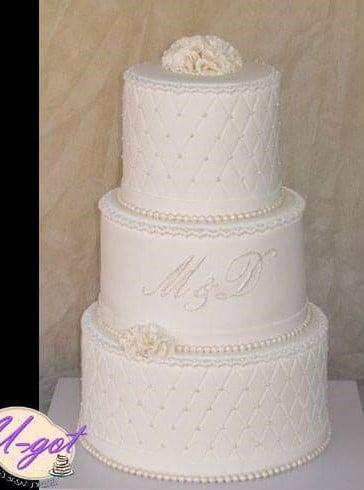 עוגת חתונה אלגנטית
