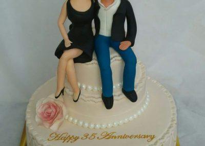 עוגה לזוג שחוגג נישואין