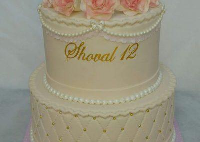 עוגת בת מצווה 5 ורדים