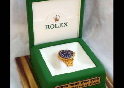 עוגת שעון רולקס לגבר