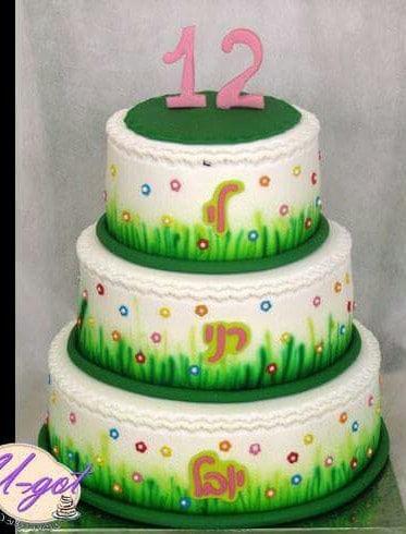 עוגת בת מצווה פרחים
