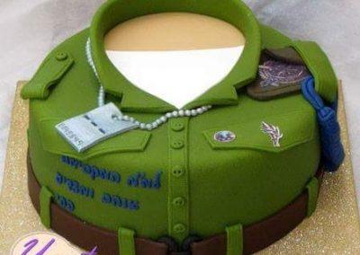 עוגת מדים של חייל