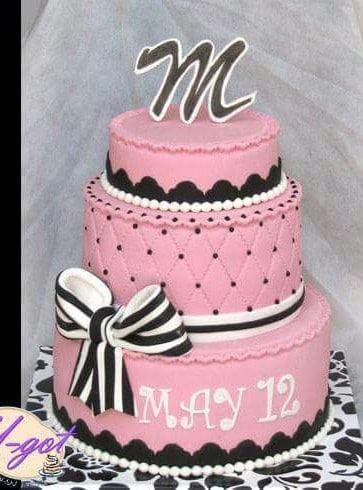 עוגה לבת מצווש סרט שחור לבן