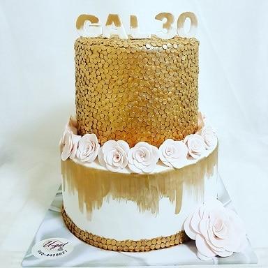 עוגת וורדים וזהב