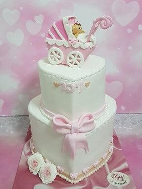 עוגה לתינוקת שנולדה