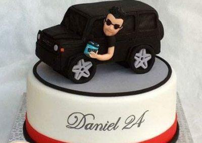 עוגת ג'יפ לבחור שאוהב את הרכב שלו