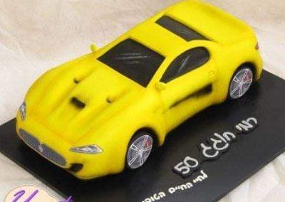 עוגת מכונית תלת מימד