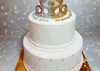 עוגת כתר חצי כסף חצי זהב