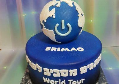 עוגה חגיגית למותג BRIMAG