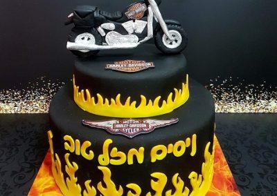 עוגת אופנוע הארלי