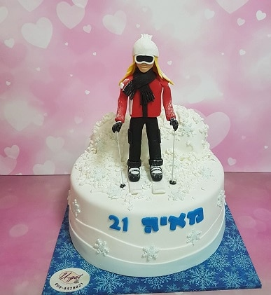 עוגה לבחורה שאוהבת לעשות סקי