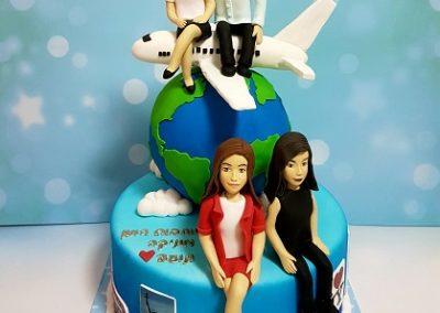 עוגה לסבא שאוהב לטוס עם בת זוגו