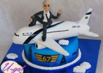 עוגת מטוס אל על וטייס