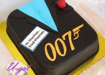 עוגת 007 ג'יימס בונד