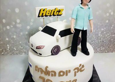 עוגת רכב ודמות