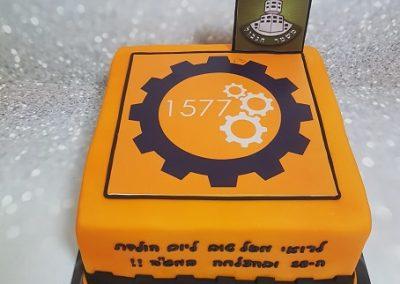 עוגת לוגו של רובוטיקה