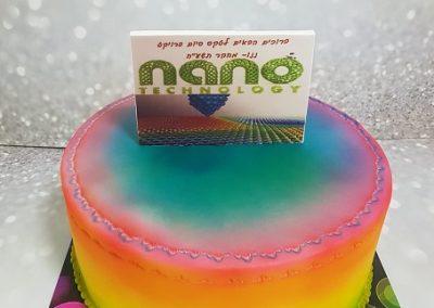 עוגת לוגו של סיום מחקר
