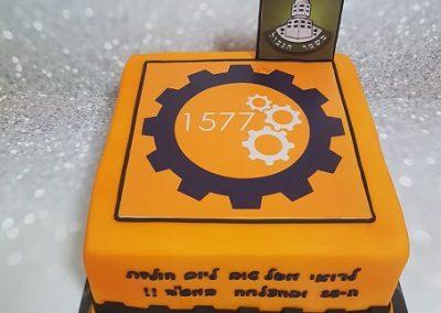 עוגת רובוטיקה לבחור שמתגייס