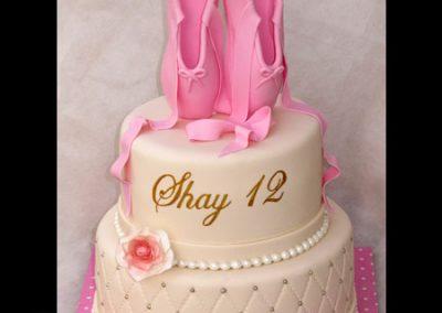 עוגת בת מצווה נעלי בלט